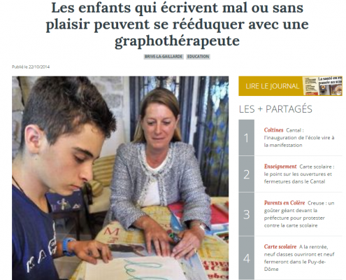 article journal La Montagne 2014