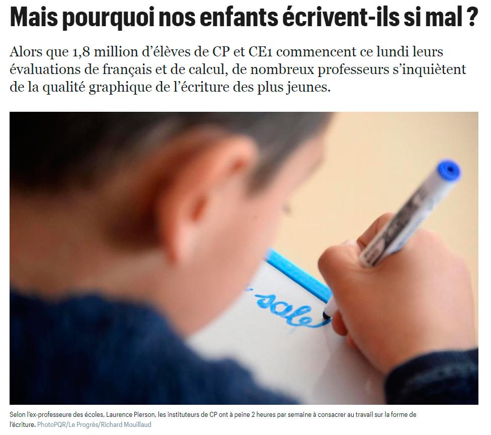 Article journal le parisien graphothérapie