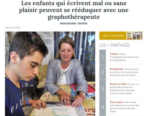 article journal La Montagne 2014