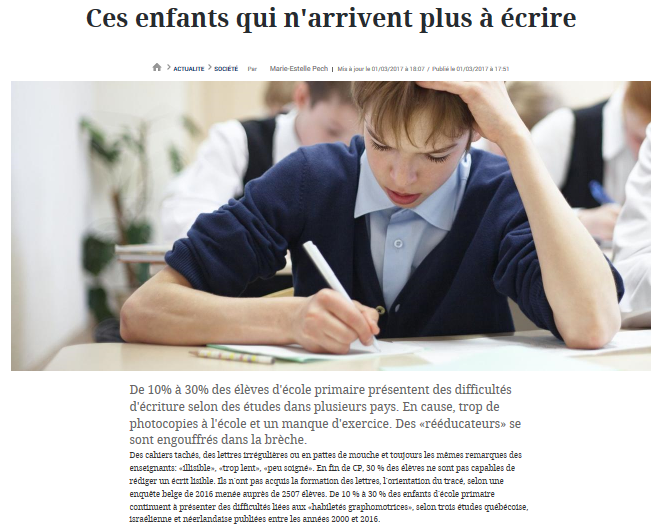 Article journal Le Figaro 2017